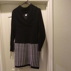 Black & White Sweater Dress